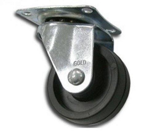 Rodizio para Moveis de DE PP 40 mm S/ Freio Roda Preta