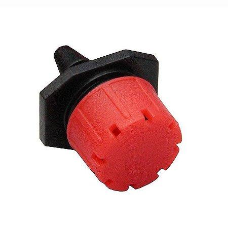 Kit 50 unidades - Gotejador ajustavel 0 - 40 l/h vermelho Irritec
