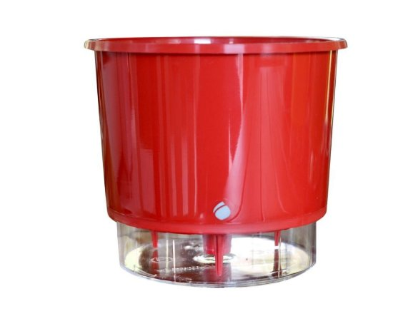 Vaso Autoirrigavel Numero 02 vermelho Liso