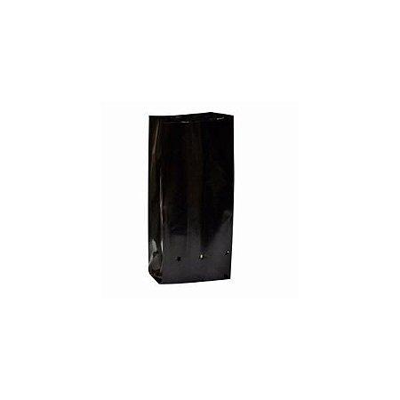 Sacos Para Mudas Preto - Medida - 15X20X0,13cm Pacote 100 Unidades