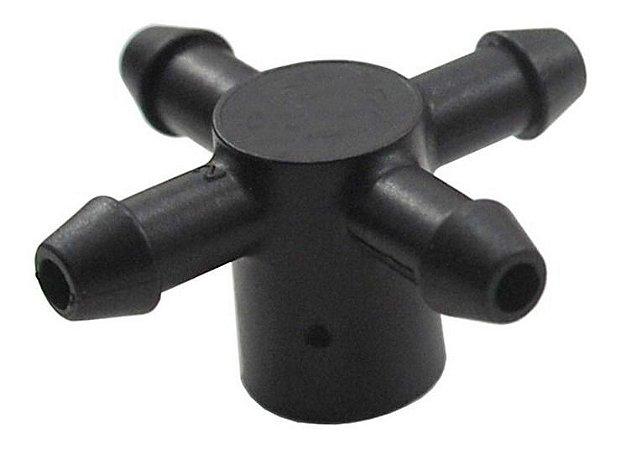 Conexao Manifold  4 Saidas 3mm para Gotejador Idrop