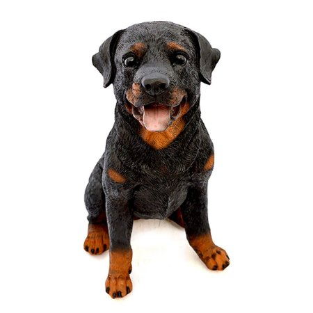 Cachorro Rottweiler Decoracao Realista Resina Casa Jardim