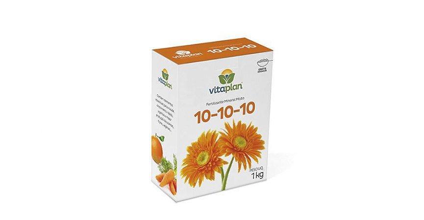 Fertilizante Mineral Misto Vitaplan 10.10.10 Caixa 1 Kg com Dosador