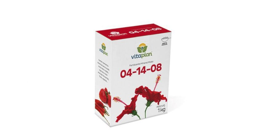 Fertilizante Mineral Misto Vitaplan 04.14.08 1 KG Caixa com Dosador
