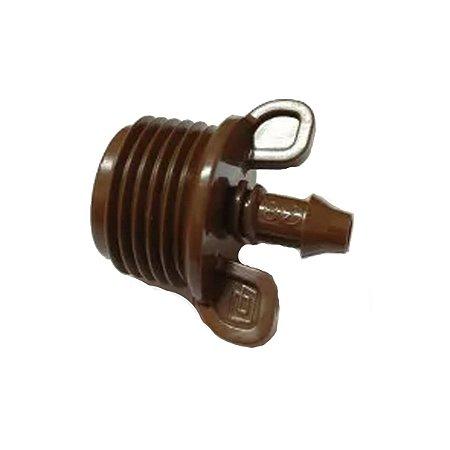 Conector Inicial para Tubo Gotejador PEBD 8 mm Ranhura Rain Bird