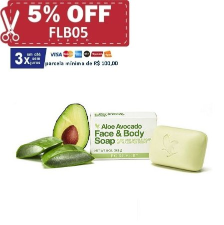 Aloe Avocado Face & Body Soap (sabonete de manteiga de abacate em barra)