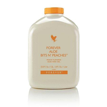 Forever Bits n Peaches, +5% cupom, 91% de Aloe Vera mais o Pêssego, 1 litro