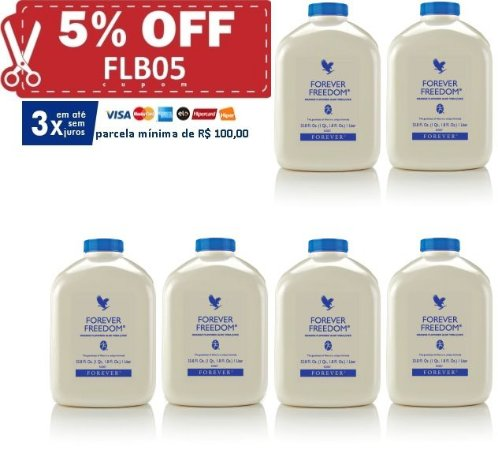 Forever Freedom, Aloe Vera, Glucosamina, Condroitina, Metil Sulfonil Metano, 6 litros