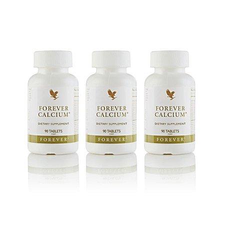 Forever Calcium, 3 unidades, Citrato de cálcio, Vitamina D e magnésico