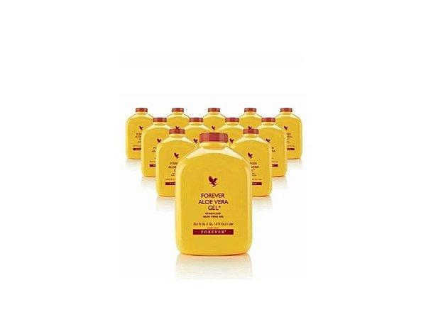 Forever Aloe Vera Gel, Suco de Aloe Vera, Puro e Estabilizado, 12 Litros