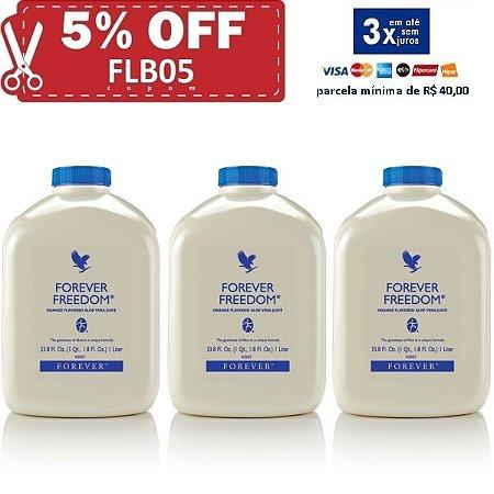 Forever Freedom, Aloe Vera, Glucosamina, Condroitina, Metil Sulfonil Metano, 3 litros