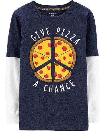 CAMISETA MANGA LONGA FATIAS DE PIZZA