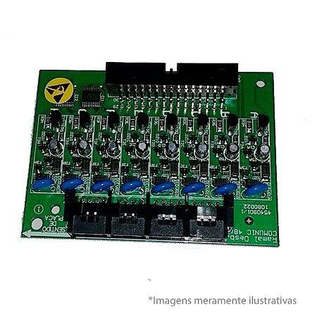 Placa de 8 Ramais Desbalanceada Intelbras para Comunic 16 ou 48