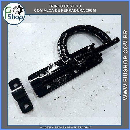 Trinco Rústico Com Alça De Ferradura 20cm (Ferrolho Tranca)