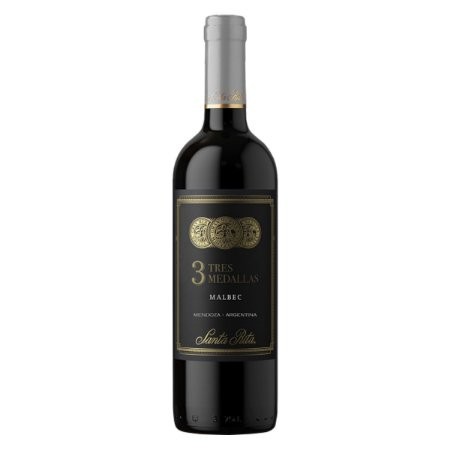 Vinho Argentino Santa Rita 3 Medallas Malbec - 750ml