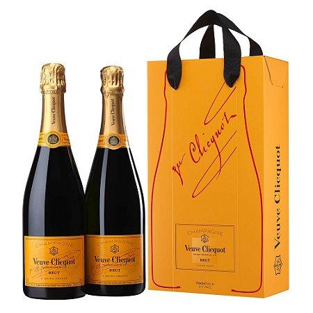 Kit Champagne Veuve Clicquot Brut 2 Garrafas - 750ml