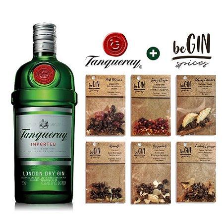 Kit Gin London Tanqueray - 750 ml + Especiarias BeGin - 6 Sachês