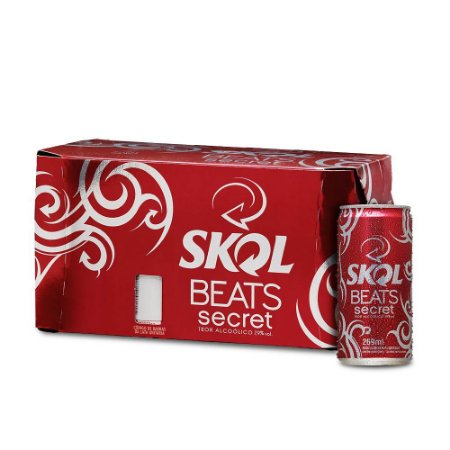 Skol Beats Secret - 269 ml - Caixa com 8 unidades