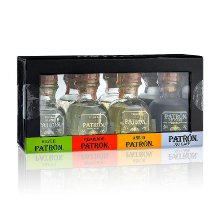 Kit Miniatura Tequila Patrón - 4 x 50 ml