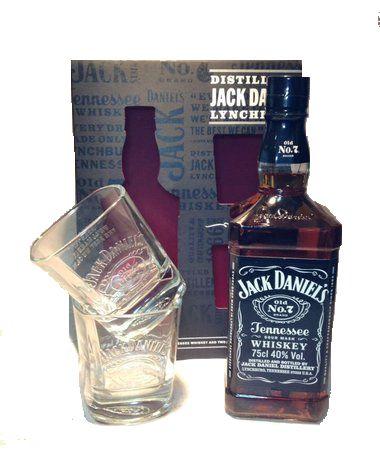 Kit Whiskey Jack Daniel´s 750 ml + 2 Copos Personalizados