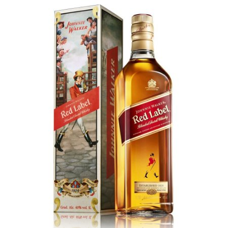 WHISKY JOHNNIE WALKER RED LABEL - 1L *EDIÇÃO 110 ANOS STRIDING MAN