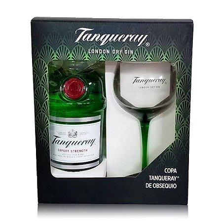 Kit Tanqueray 1 Litro + Taça Vidro Personalizada