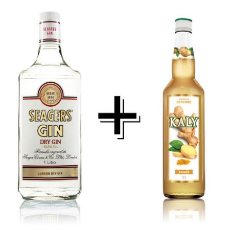 Combo Gin Seagers - 1L  + Xarope Gengibre - 700ml