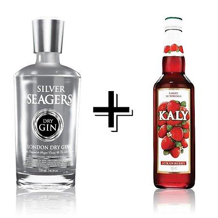 Combo Gin Silver + Xarope Morango