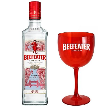 Kit Gin Beefeater London Dry - 1L + Taça Personalizada