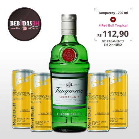 Instagram Promo: Combo Tanqueray 700ml + 4 Red Bull Tropical