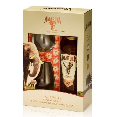 Kit Licor Amarula 700 ml + 2 Copos