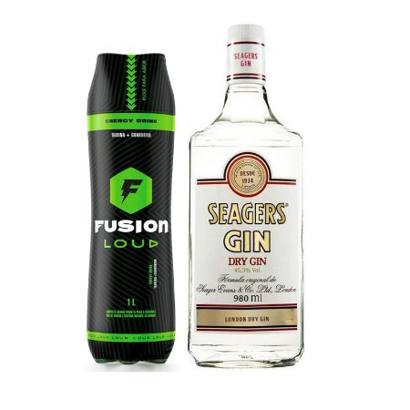 Combo Gin Seagers - 1L + Energético Fusion - 1L