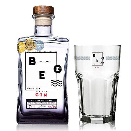 Gin BEG Brazilian Boutique Dry + Copo Oficial - 750 ml