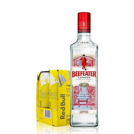 Combo Gin Beefeater 750ml + 4 Red Bull Tropical