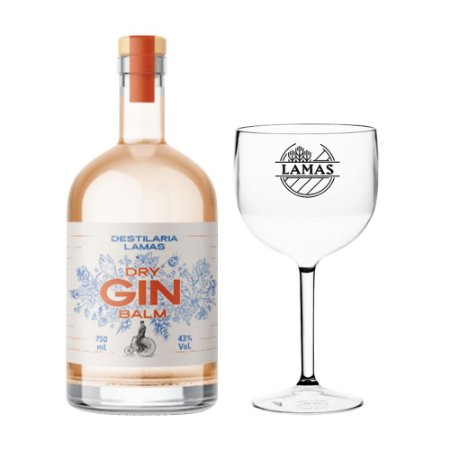 Gin Lamas Balm Dry 750 ml + Taça Oficial
