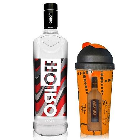 Vodka Orloff 1 L + Coqueteleira Laranja