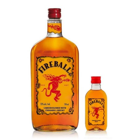 Whiskey Fireball 750 ml + Miniatura