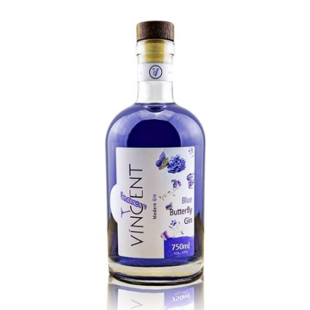 Gin Víncent Blue Butterfly - 750 ml