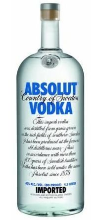 Vodka Absolut - 4,5 Litros