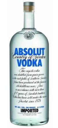 Vodka Absolut - 4,5 Litros