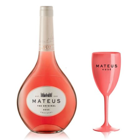 Vinho Mateus Rosé 750 ml + Taça Personalizada