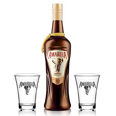 Kit Licor Amarula 750 ml + 2 Shots