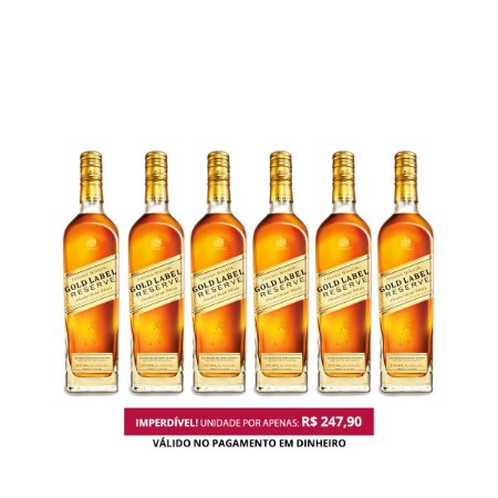 Whisky Johnnie Walker Gold Label Reserve - 750 ml - 1 Cx. / 6 Unid.