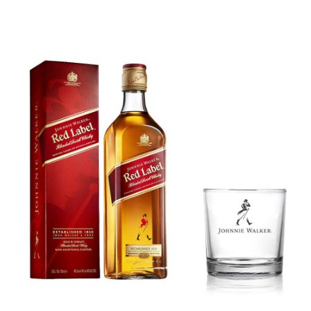 Kit Whisky Johnnie Walker Red Label - 1L + Copo Exclusivo