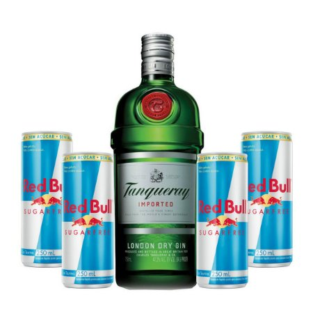 Combo Gin Tanqueray  750 ml + 4 Red Bull Sugar Free