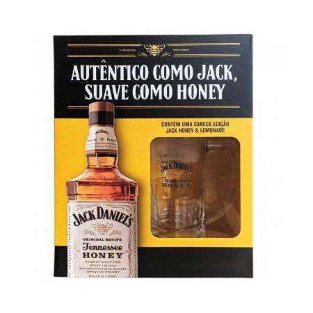 Kit Whisky Jack Daniel's Honey - 1L + Caneca Exclusiva Lemonade