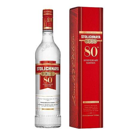 Vodka Stolichnaya - Edição de Aniversário - 80 anos - 1L