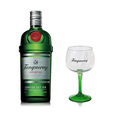 Kit Gin London Tanqueray - 750 ml + Taça Oficial Tanqueray (Vidro)