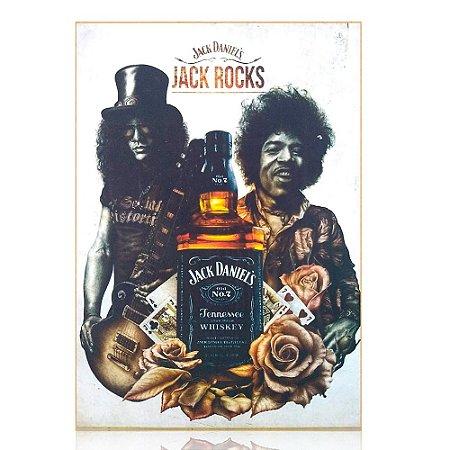 Quadro Jack Daniel's Personalizado - Hendrix e Slash