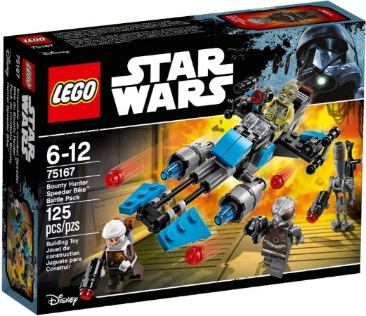 LEGO STAR WARS 75167 BOUNTY HUNTER SPEEDER BIKE BATTLE PACK